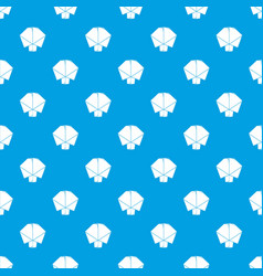 origami tree pattern seamless blue vector image