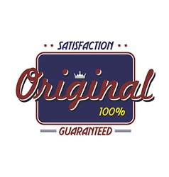 original quality badge vector image