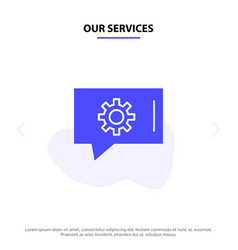 Our services chat preferences chat setting chat vector