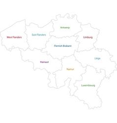 Outline Belgium map vector