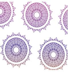 Pattern dark blue to purple of flowers mandala vector