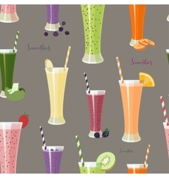 Pattern with smoothies with different Ingredients vector