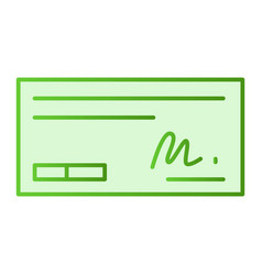 Pay cheque flat icon sign on cheque green icons vector
