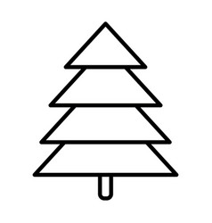 pine tree forest foliage natural icon thick line vector image