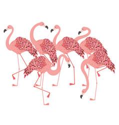 Pink flamingo design vector