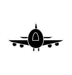 plane airoport fast delivery icon vector image