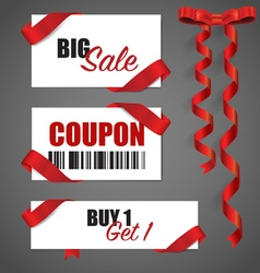 Price tag sale coupon voucher vector
