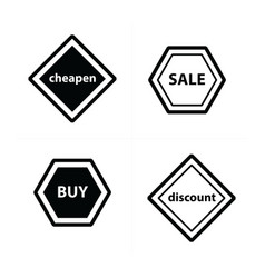 Price tags label set design vector