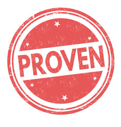 proven sign or stamp vector image