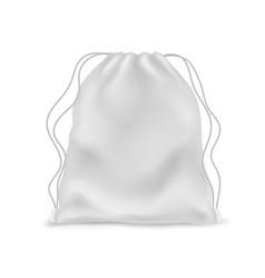 Realistic backpack mockup white knapsack school vector