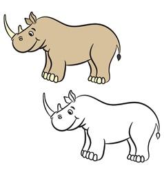 Rhino coloring book vector