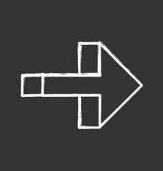 Right arrow chalk icon forward pointer right turn vector