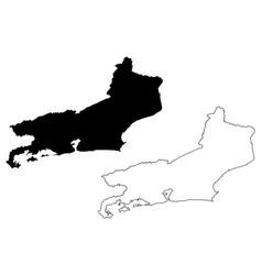 rio de janeiro state map vector image