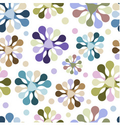 seamless pattern flowers unusual pastel vector image
