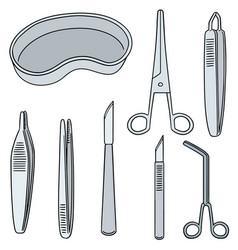 Set of surgical instrument vector