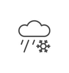 sleet line icon vector image