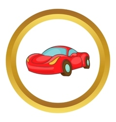 Small red italian car icon vector image