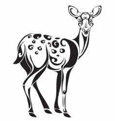 Spotty deer vector
