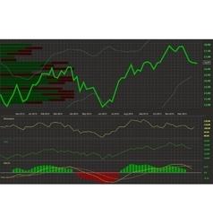 Stock chart vector