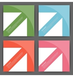 Stock Design template square cards vector image