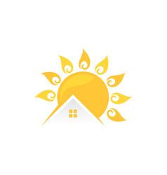sun home vector image