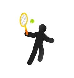 Tennis player isometric 3d icon vector image