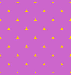 tile pattern with yellow triangles on violet vector image