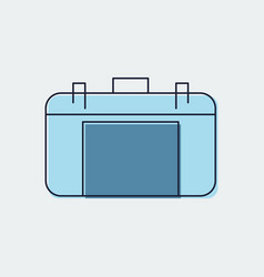 travel bag flat icongraphic design vector image