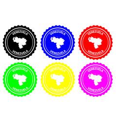 Venezuela rubber stamp vector