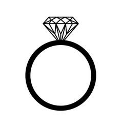 Wedding or engagement diamond ring icon symbol vector