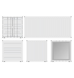 White shipping container set vector