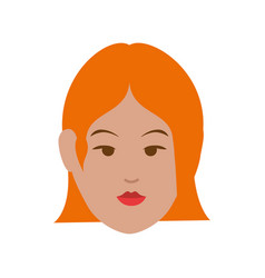 woman cute cartoon vector image