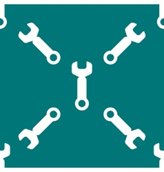 Wrench tool to work web icon flat design Seamless vector image