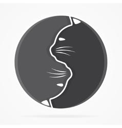 Yin yang cats logo vector