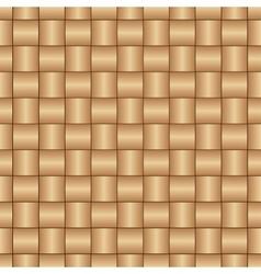 Abstract decorative wooden textured basket weaving vector image