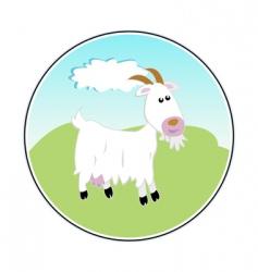 happy goat vector image vector image