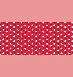 heart seamless pattern red and white color vector image vector image