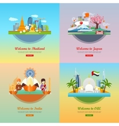 Welcome to Japan Thailand India UAE vector image vector image