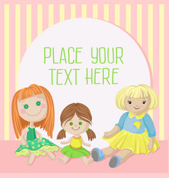 cozy playing room for girl banner with place for vector image