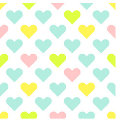 heart shapes cute baby seamless pattern vector image