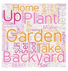 How To Set Up A Backyard Garden text background vector image vector image