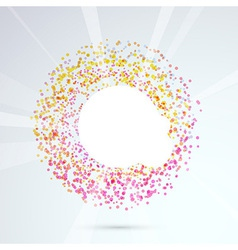 Particle bright circle design element vector image vector image