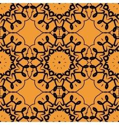 Seamless Print of stylized rounf mandala frame vector image vector image