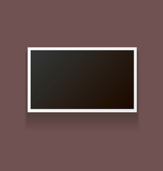 vintage photo frame with shadow isolated on brown vector image