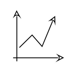 arrow chart icon vector image