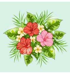 Bouquet of tropical flowers vector image vector image