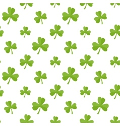 Flat clover vector image