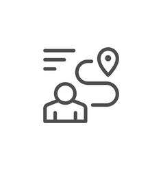 human navigation line icon vector image