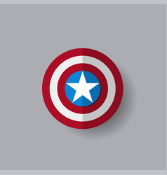 shield with a star superhero shield vector image vector image