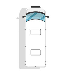 top view modern minivan isolated icon vector image